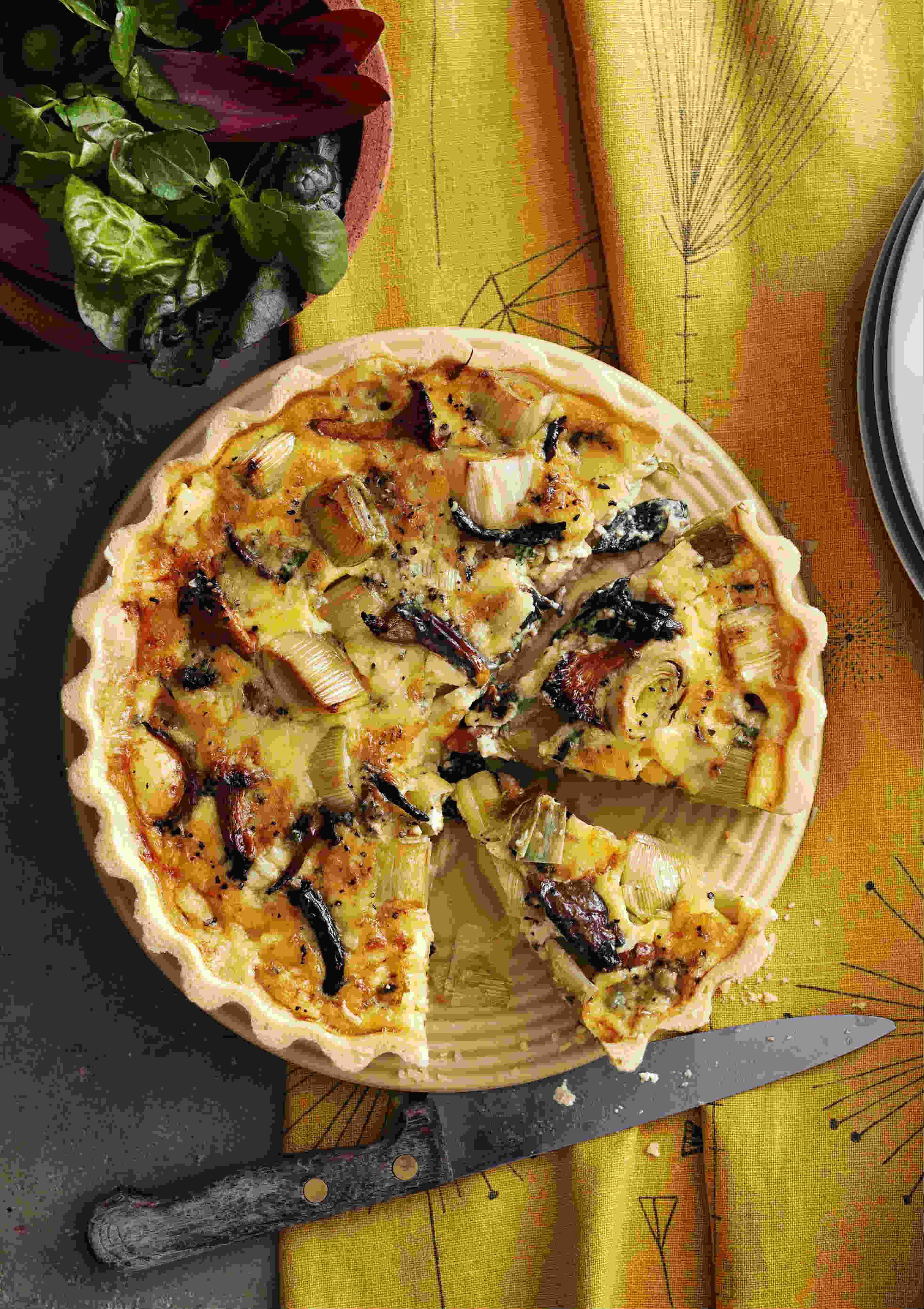 tart savoury recipes quiche mushroom wild leek tarts ever bacon egg recipe magazine olive