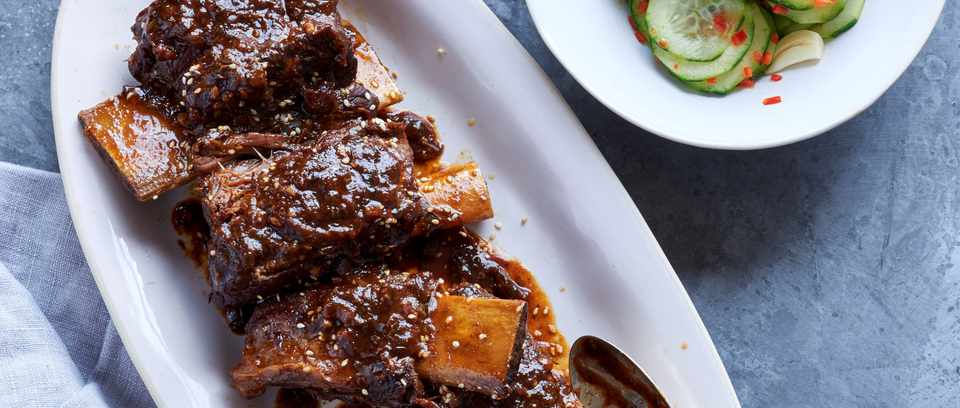 Slow-braised Korean short ribs