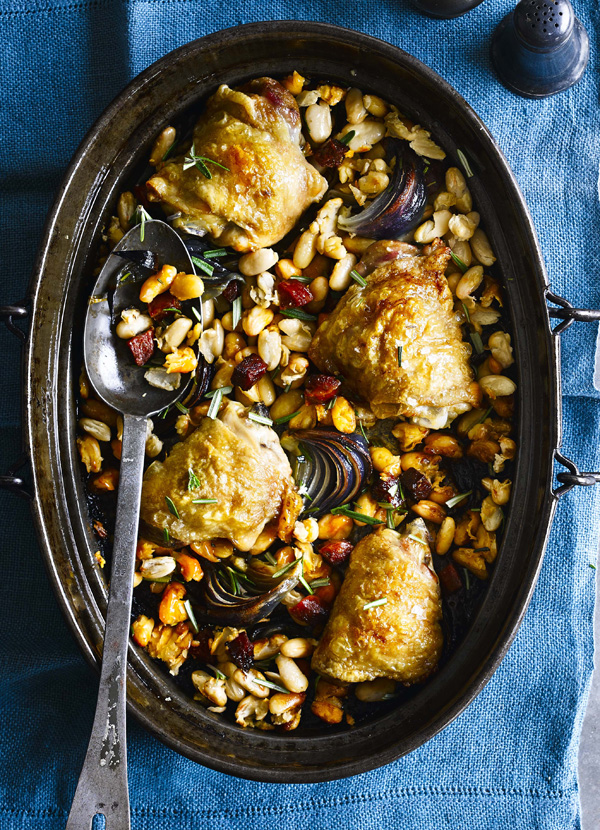 One Pot Chicken Recipe With Cannellini Beans and Chorizo