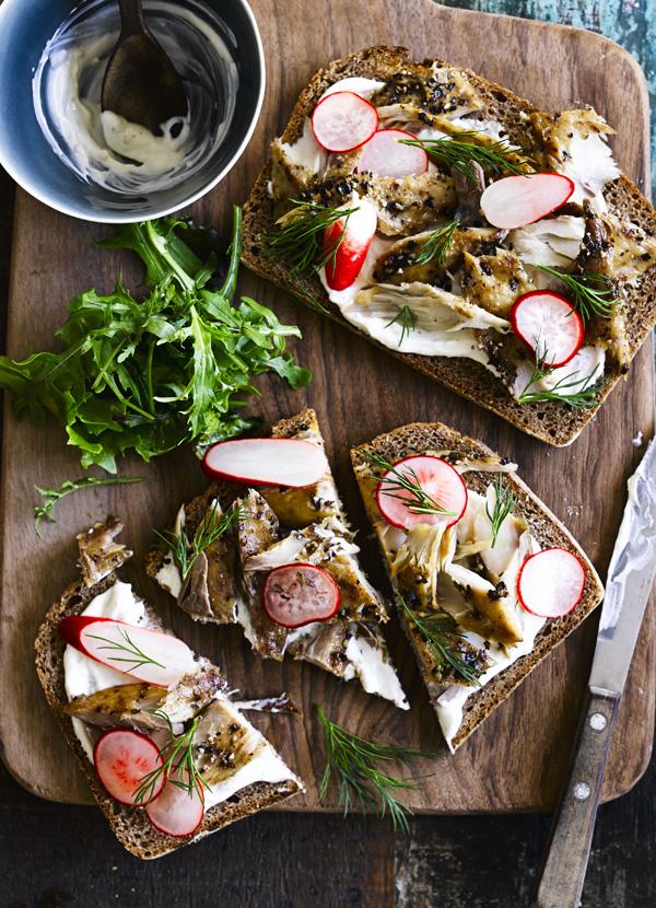 Smoked Mackerel Open Sandwich Recipe On Rye Bread