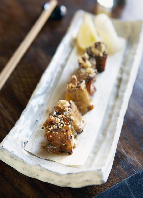 Nasu dengaku (miso grilled aubergine)