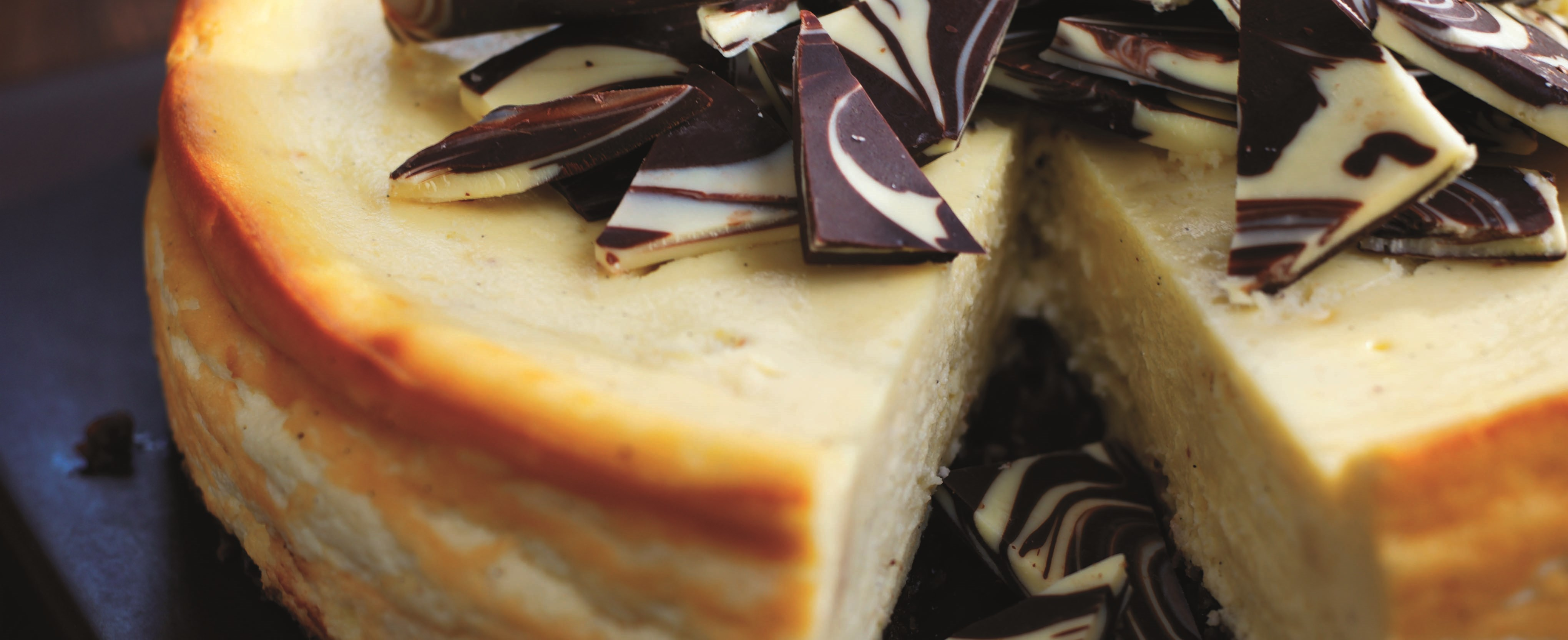 White chocolate and Baileys cheesecake