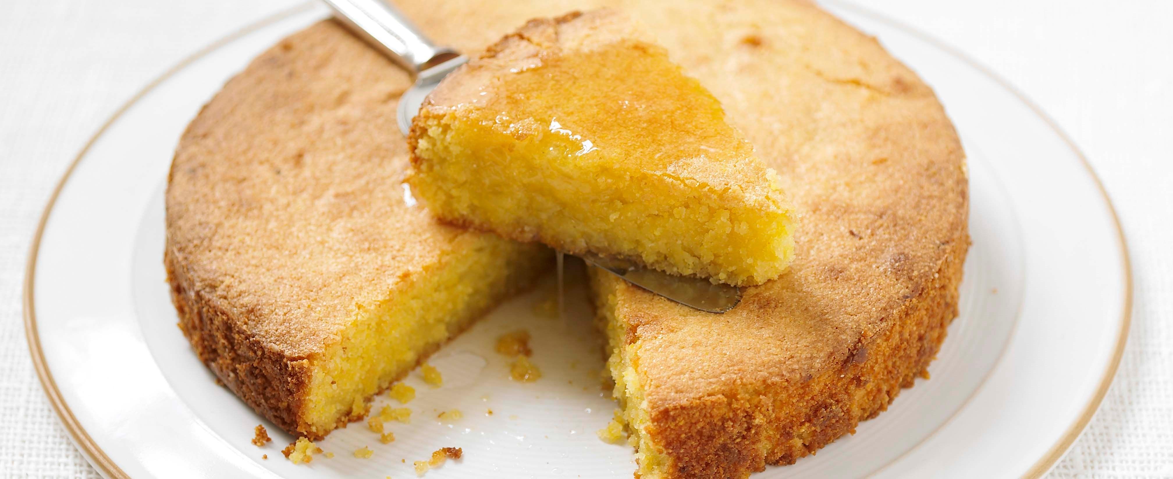 Lemon Polenta Syrup Cake