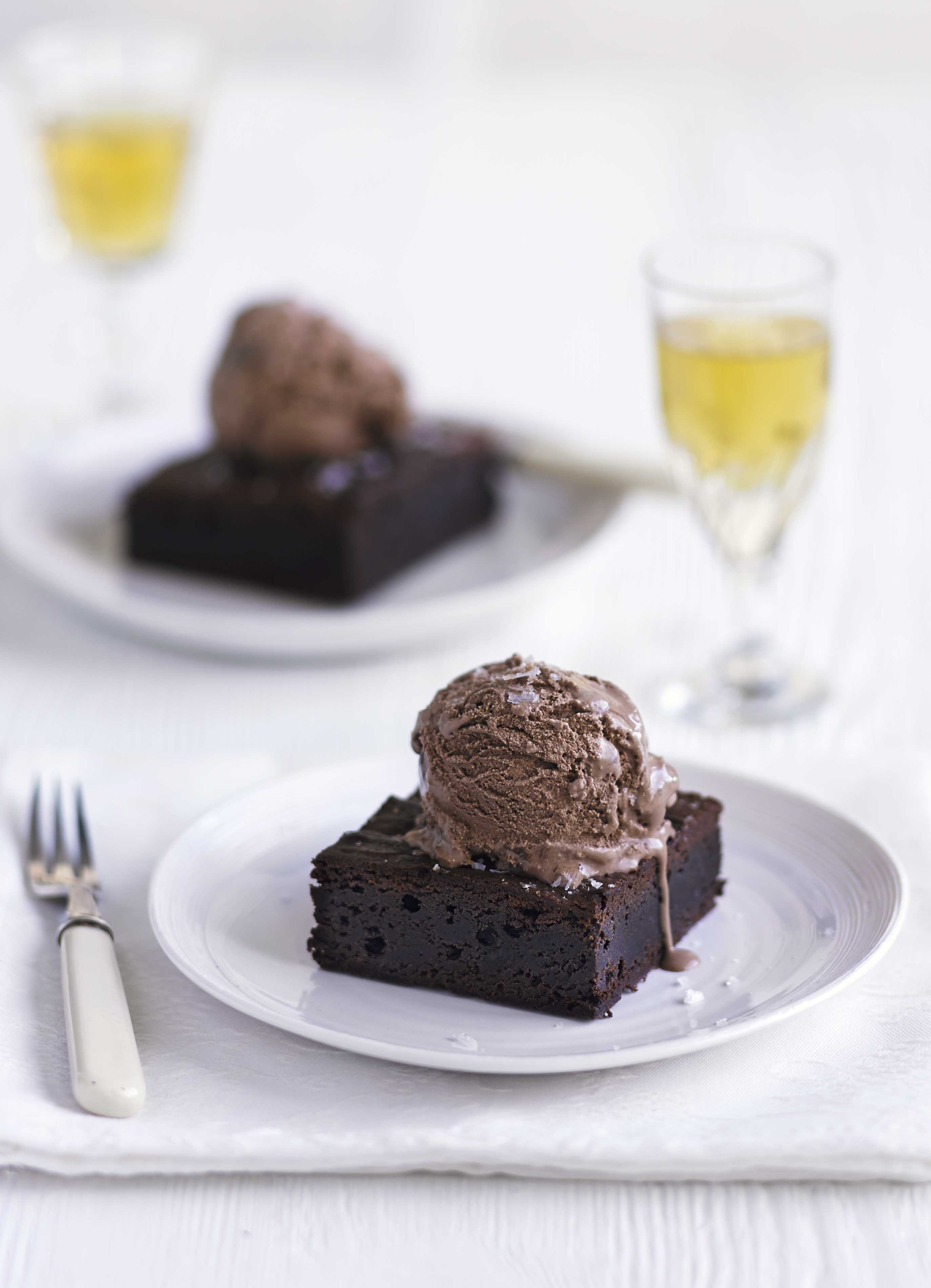 Malted Horlicks Brownies Recipe with Sea Salt