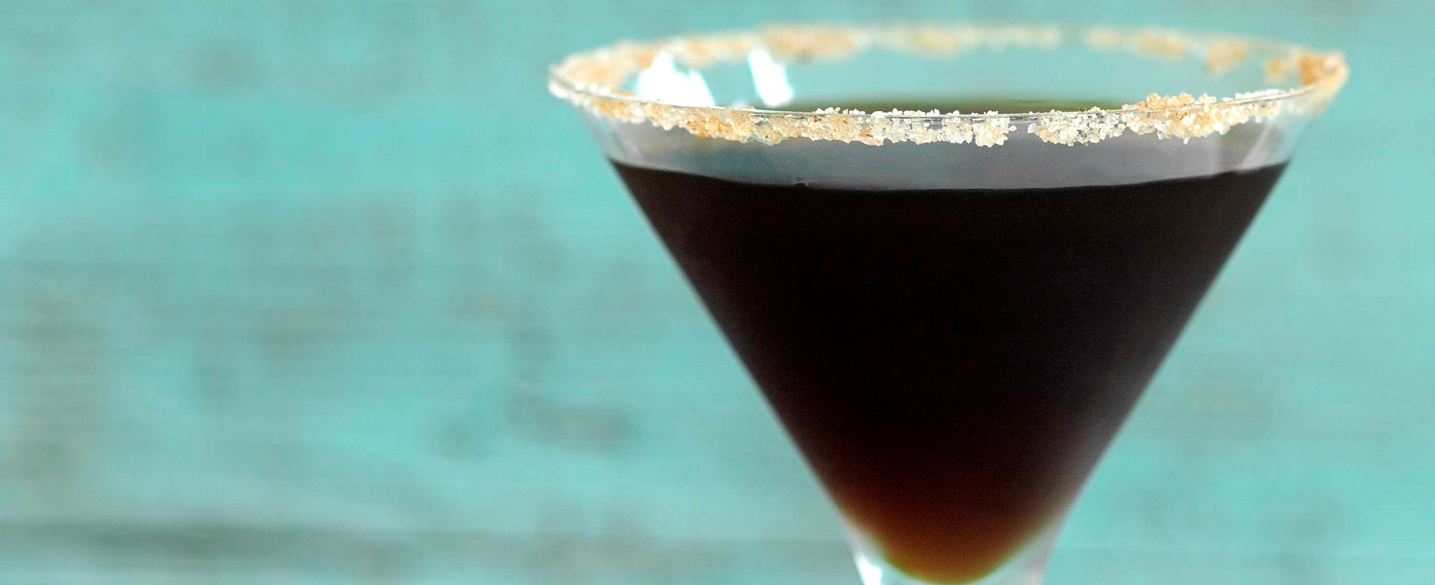 Gingerbread and espresso martini cocktail