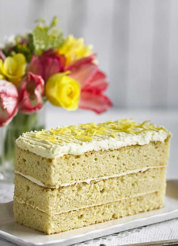 Lemon white chocolate layer cake