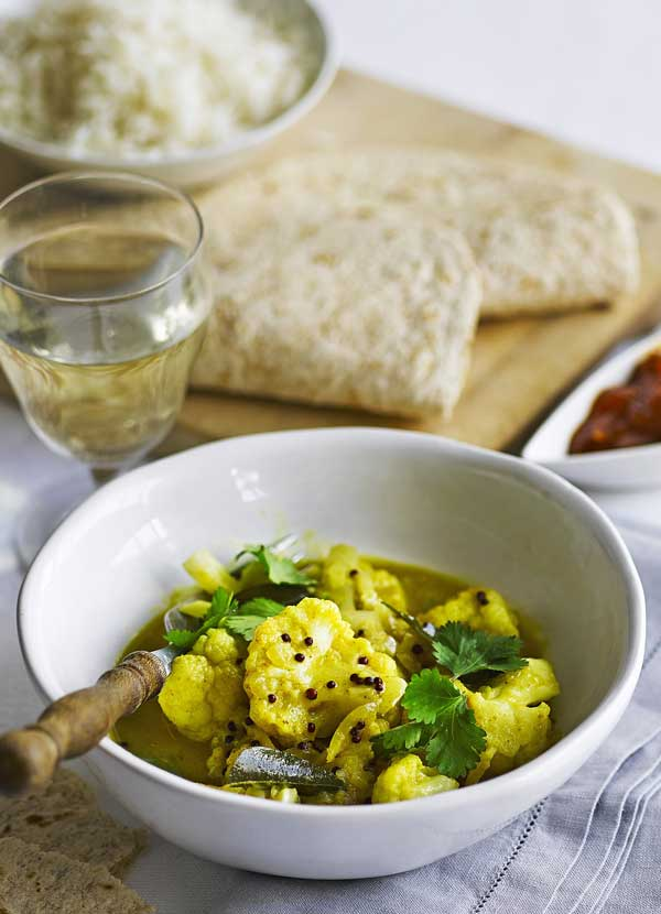 Cauliflower and ginger curry