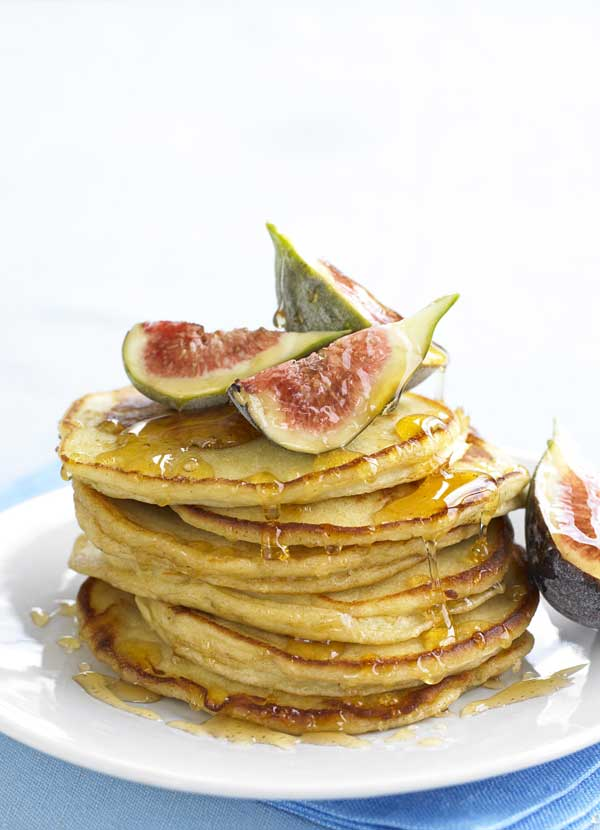 Ricotta Pancakes Recipe With Honey and Figs