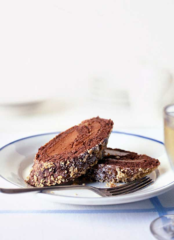 Chocolate espresso and hazelnut roulade recipe