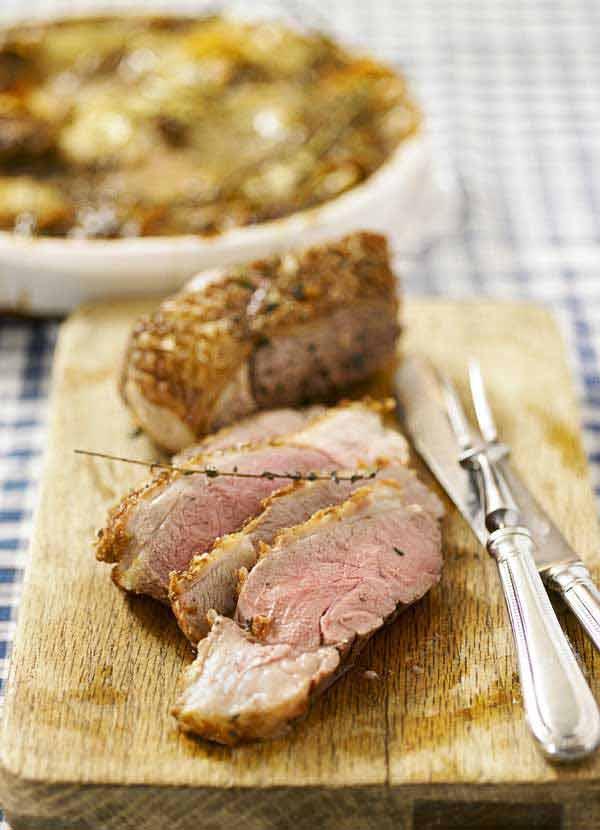 Thyme roasted lamb