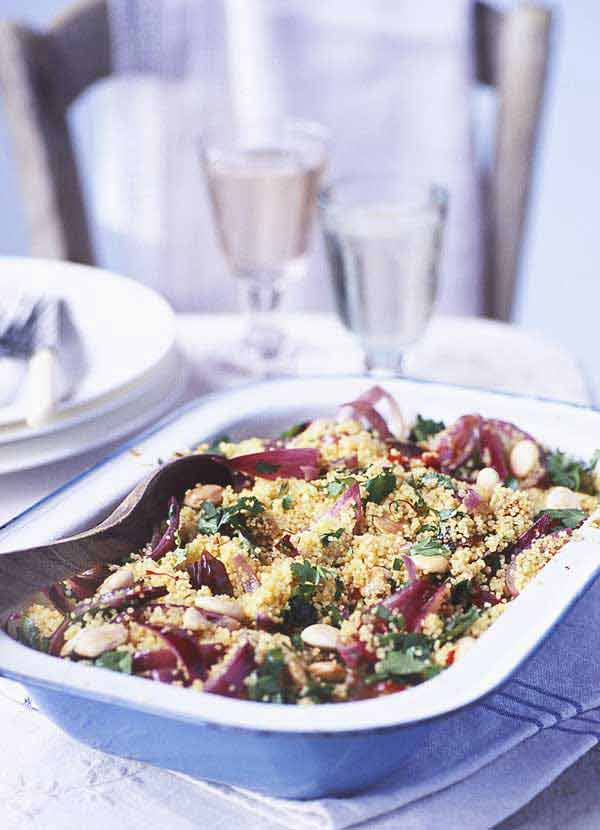 Spiced herb and almond couscous