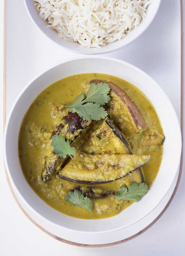 Fragrant aubergine curry