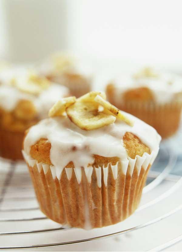Banana and lemon muffins