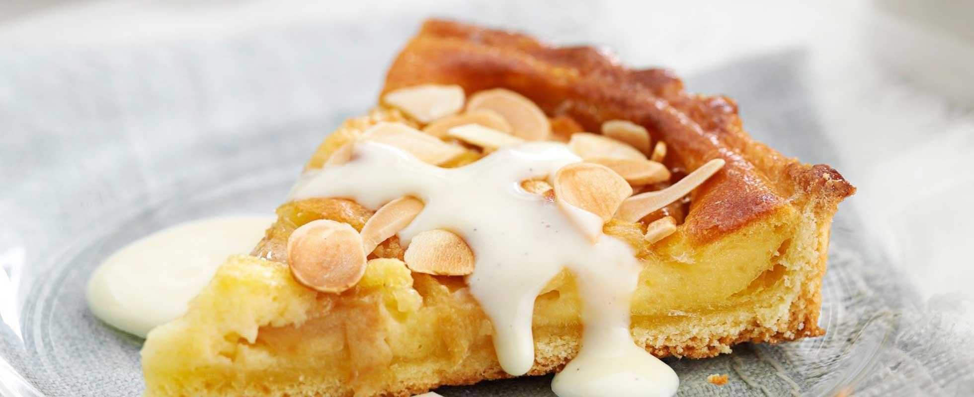 Cheat's apple tart with custard - olive magazine