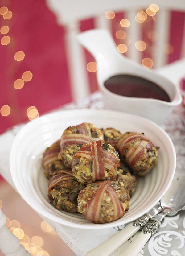 Pork, sage and chestnut stuffing parcels