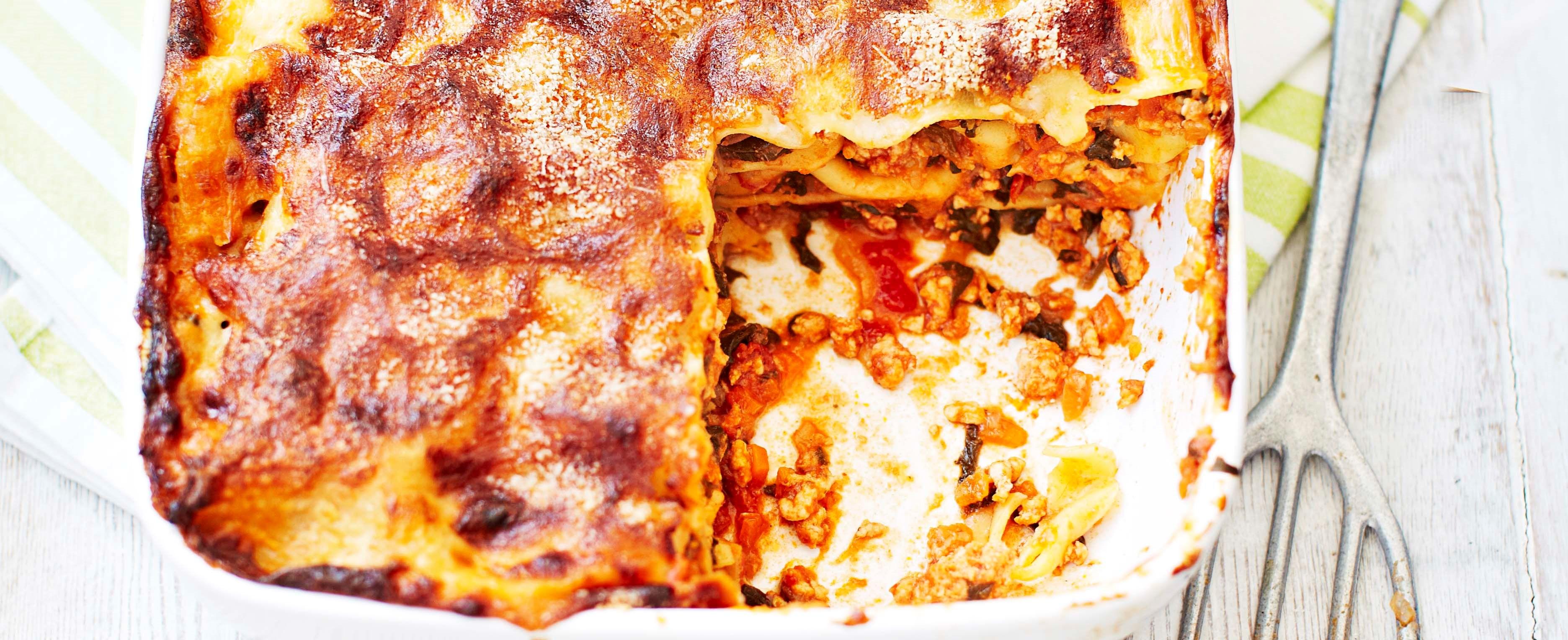 Low calorie lasagne
