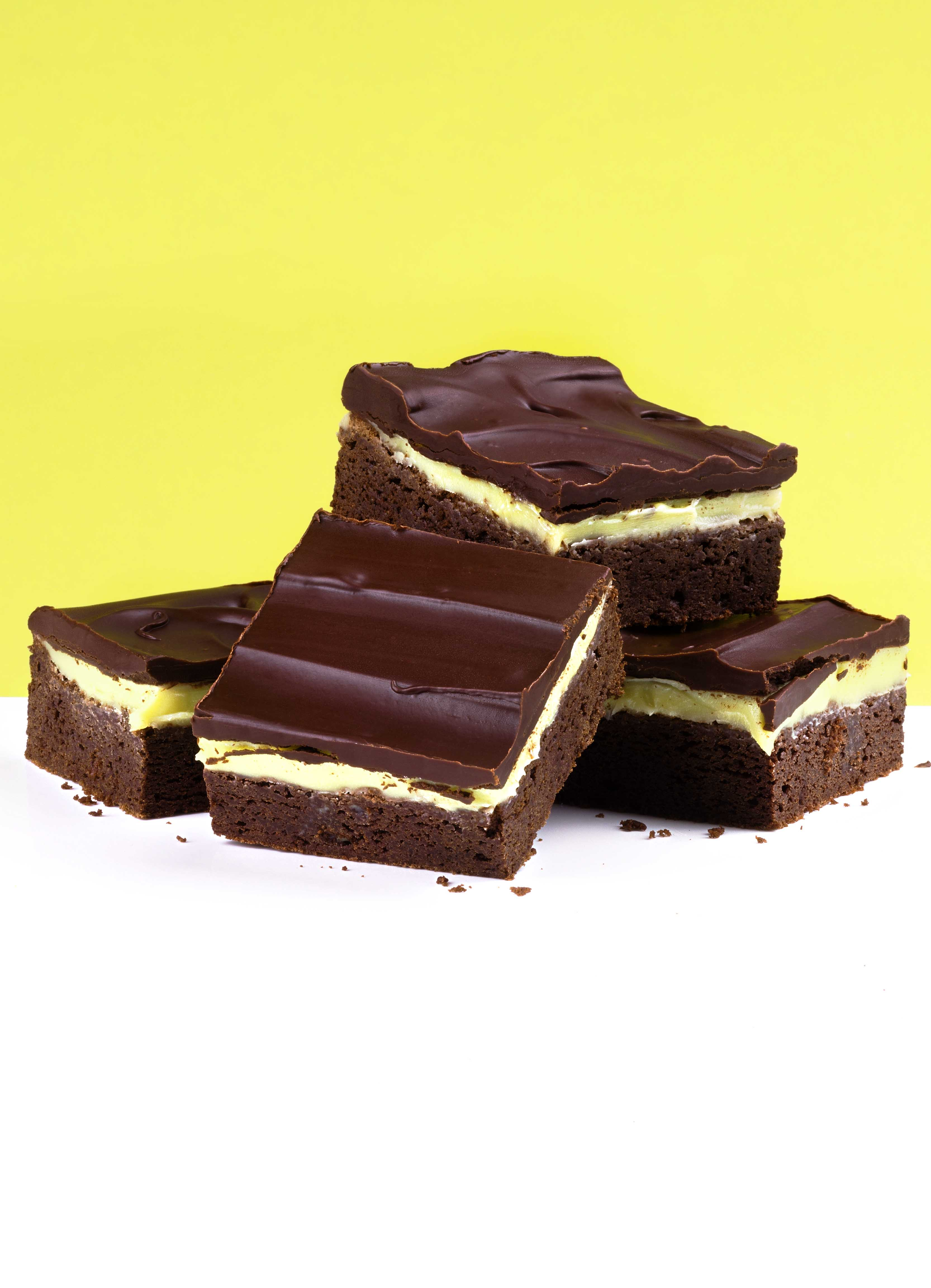 Grasshopper Squares - Mint Chocolate Brownies Recipe