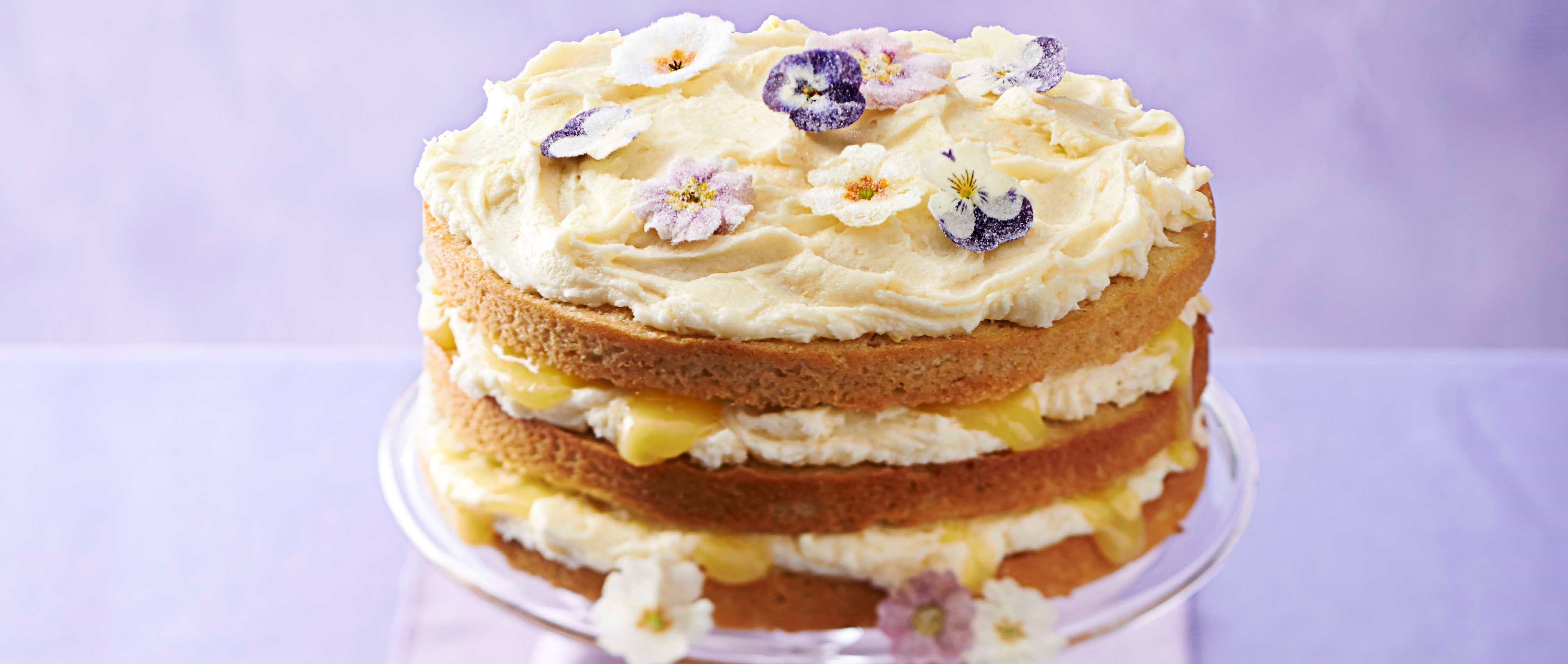 Cake Recipes Using Lemon Curd: Lemon Curd Layer Cake