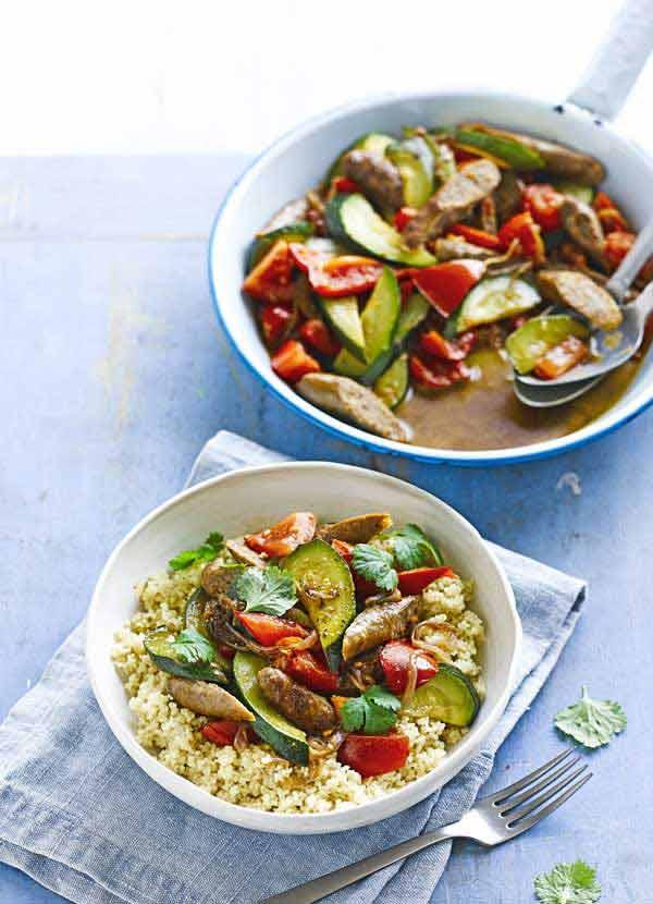 Spiced merguez couscous