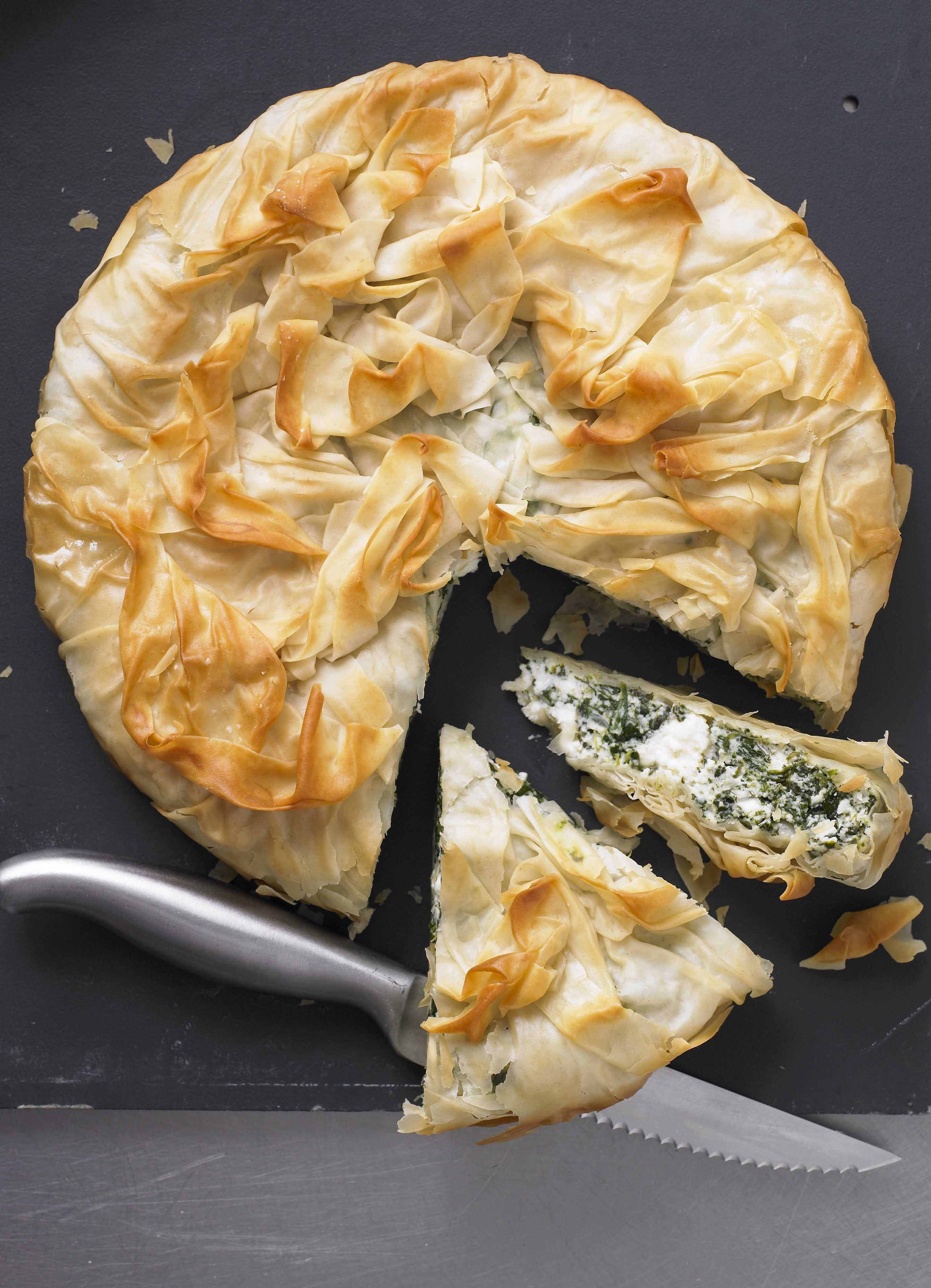 Spinach and ricotta filo pie