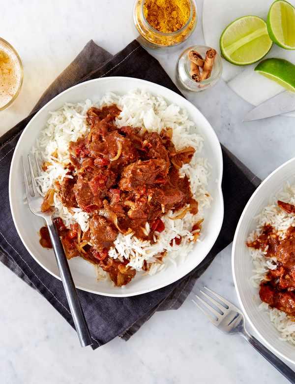 Caribbean-style lamb curry