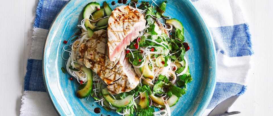 Seared tuna with ponzu dressing