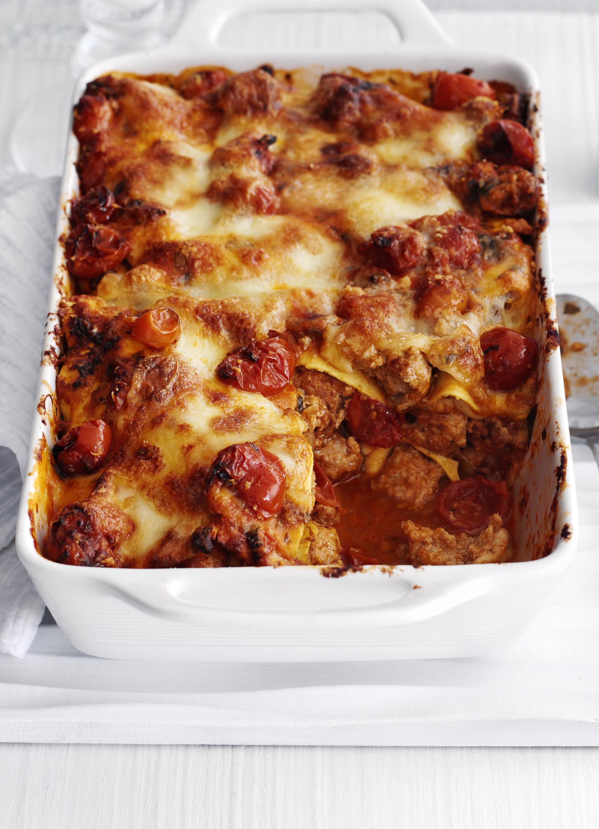 meatball melt lasagne