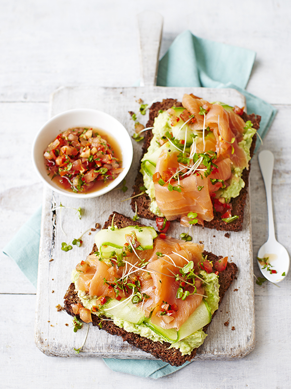 Avocado Toast Recipe with Smoked Salmon