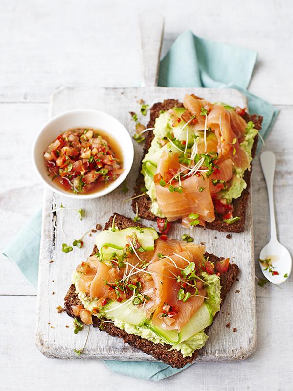 Smoked Salmon Toast Recipe with Avocado