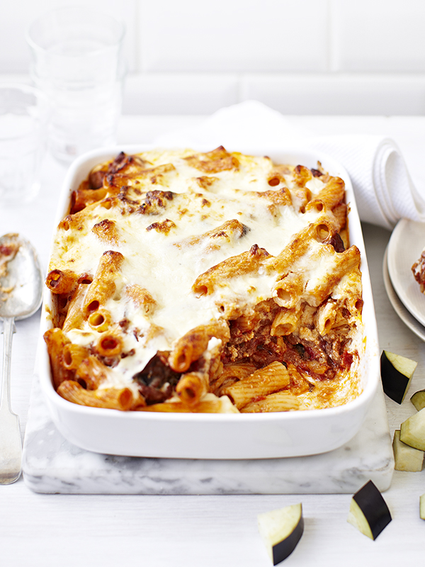 Aubergine and lamb pasticcio