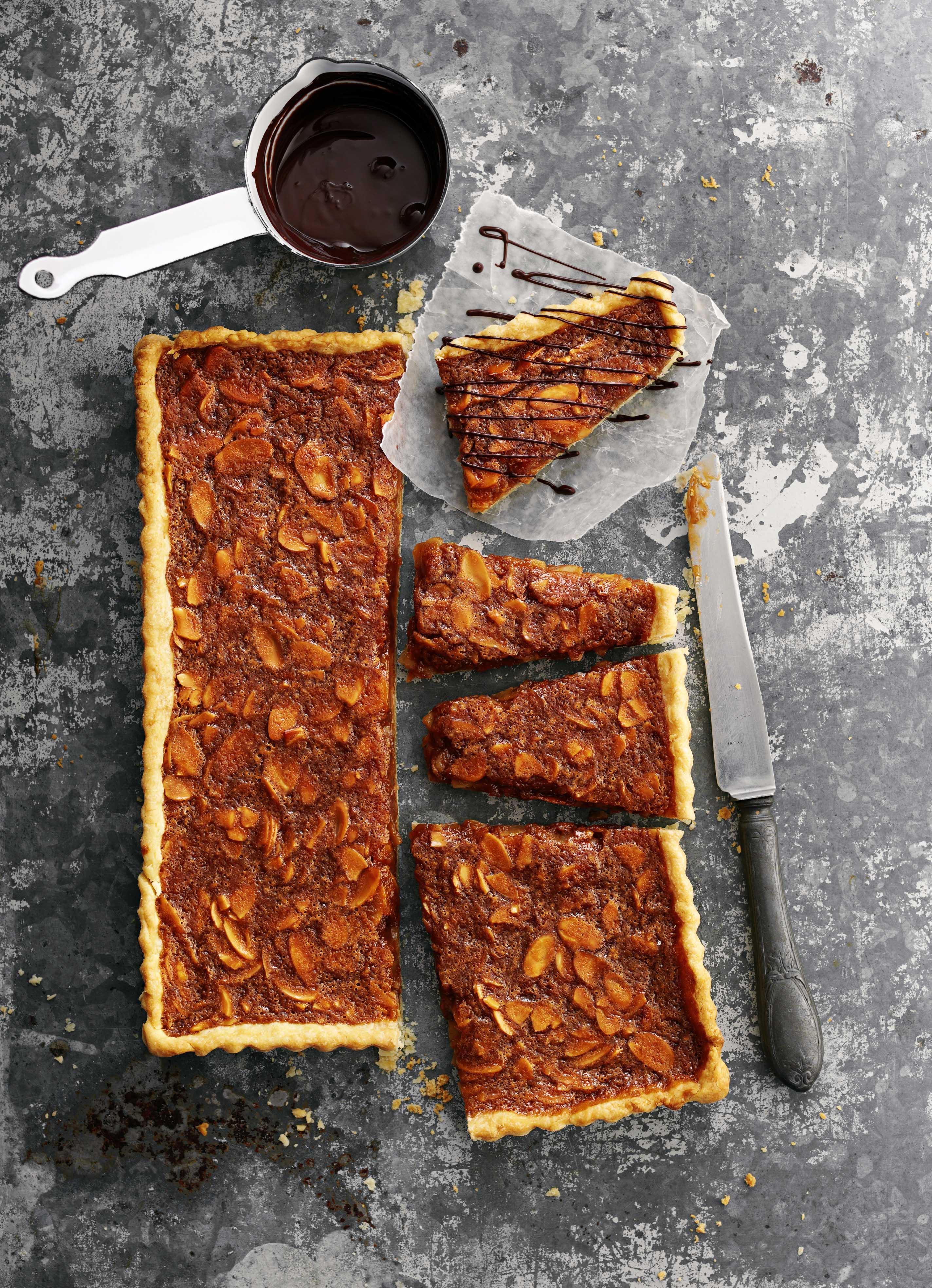 Caramel Almond Tart Recipe