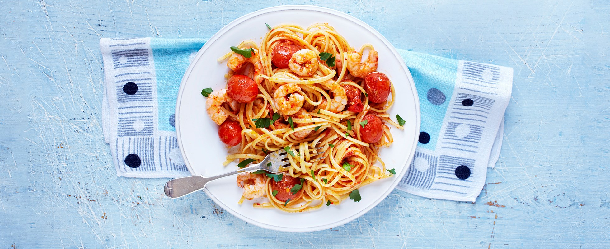 Prawn linguine recipe with 'nduja