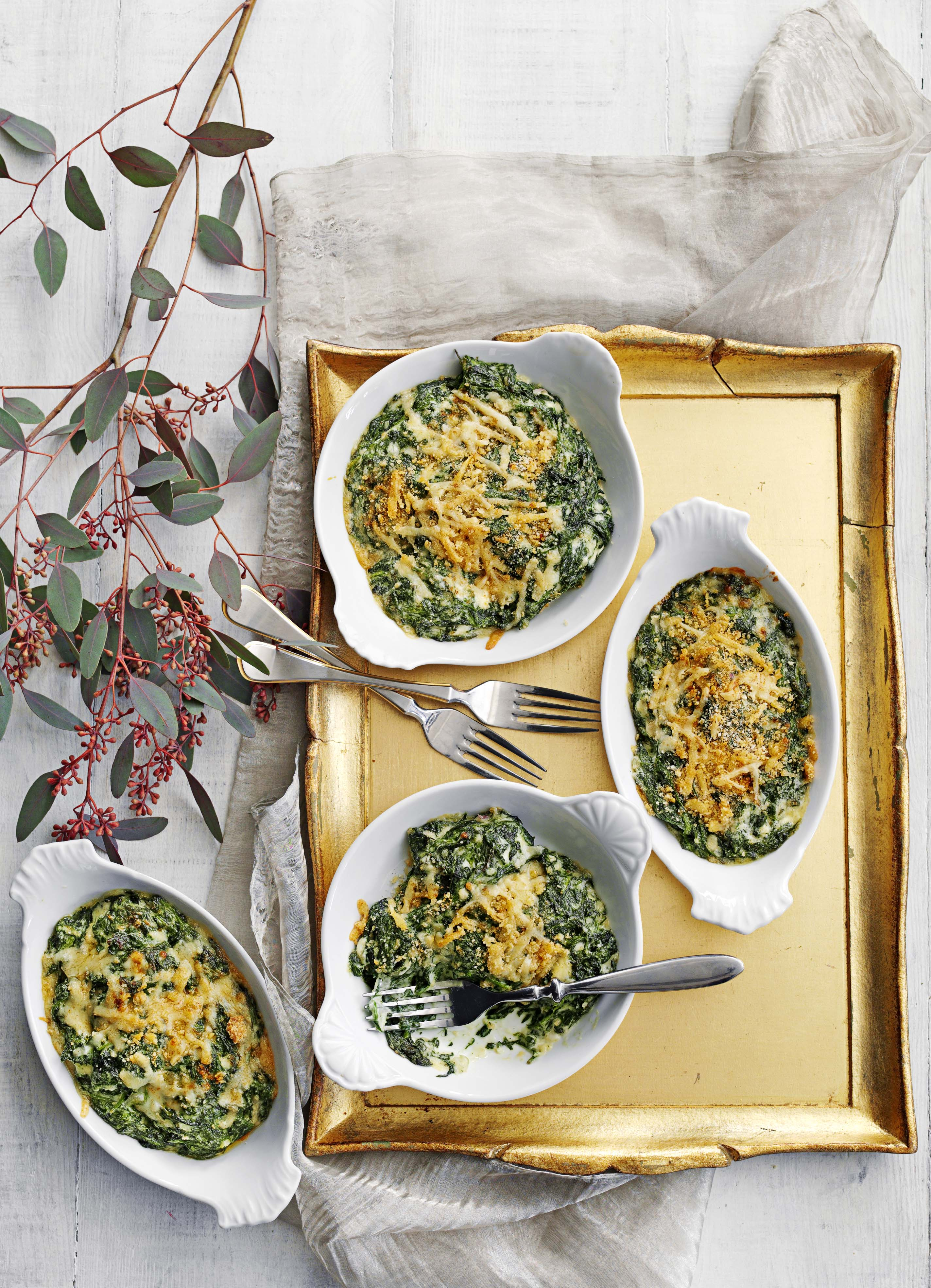 Steakhouse-style spinach gratin