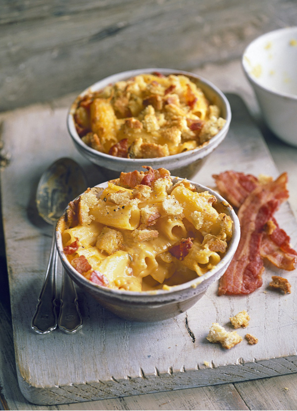 mac n cheese with bacon