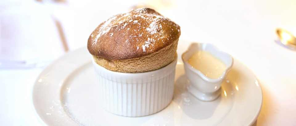 Prune and Armagnac soufflé