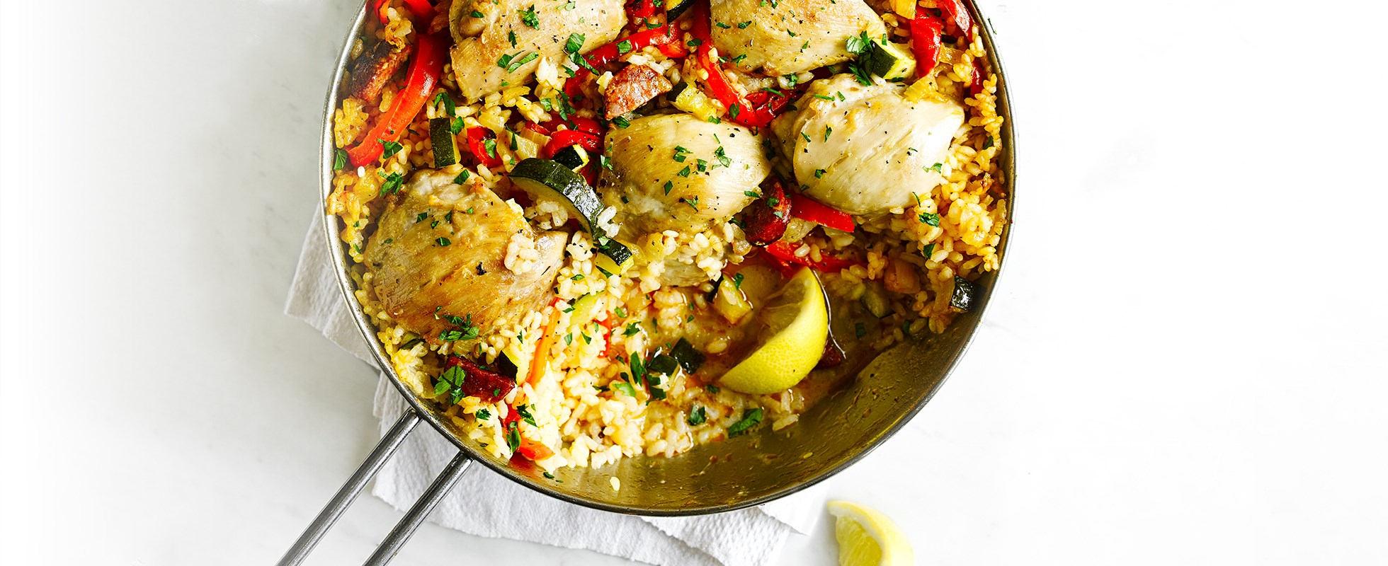 One-pot Spanish rice with chicken and chorizo