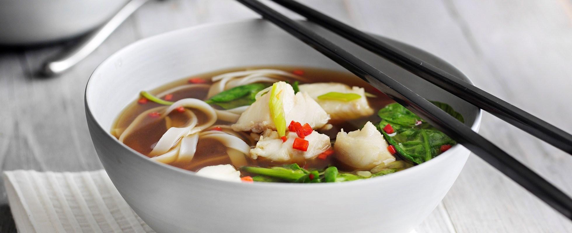 asian hot and sour noodle soup