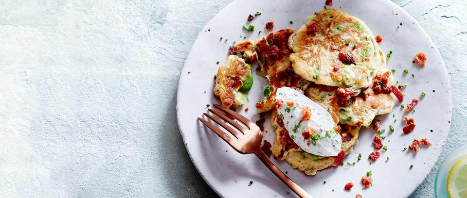 Broad bean fritters recipe