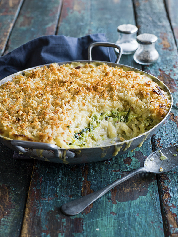 Courgette Mac And Cheese Recipe With Garlic Sourdough Crumbs
