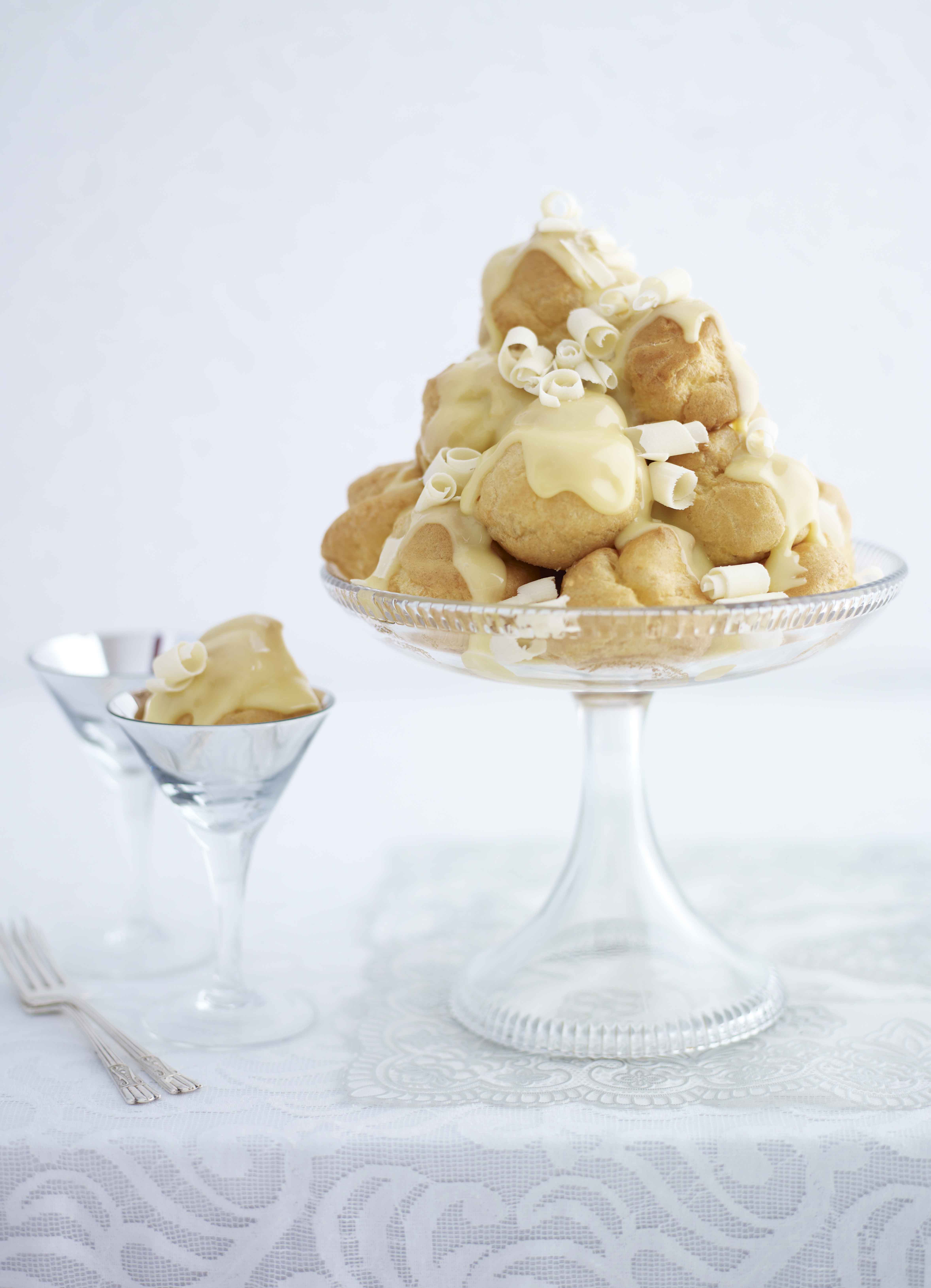 Lavender and White Chocolate Profiteroles Recipe