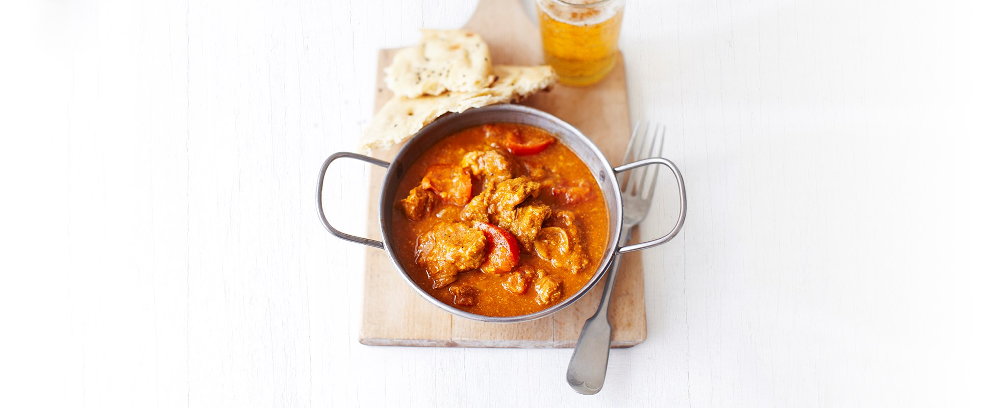 Creamy lamb and tomato curry