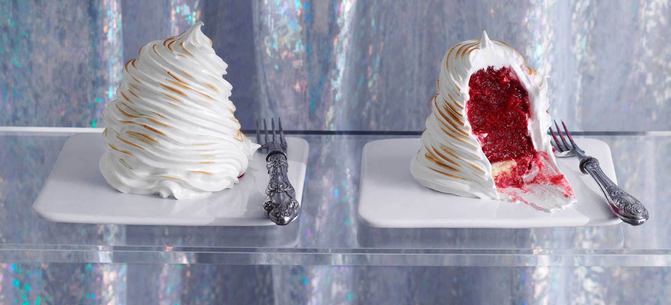 Baked Alaska Recipe with Raspberry and Aperol