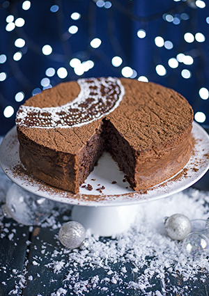 Rum-Raisin Chocolate Torte Recipe with Brown Sugar Crème Fraîche