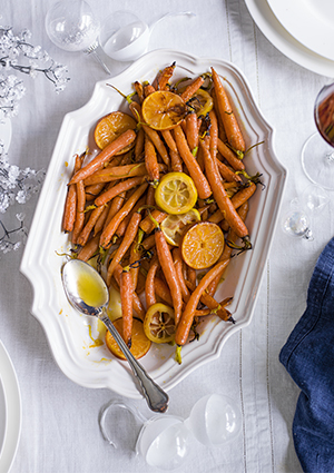 Baby carrots with citrus