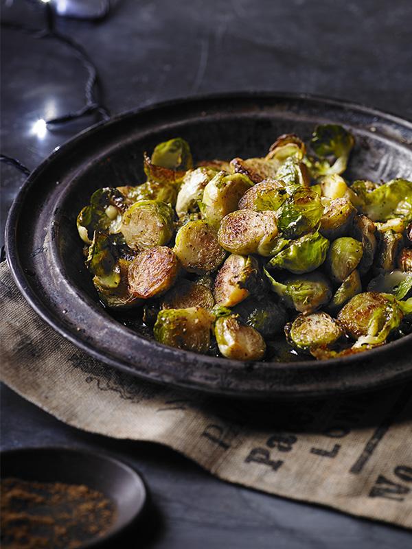 Garam masala roast brussels sprouts