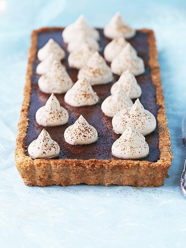 Espresso Coffee Tart Recipe With Hazelnut Pastry and Kahlúa Cream