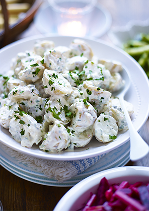 Potato Salad Recipe with Gherkins and Capers