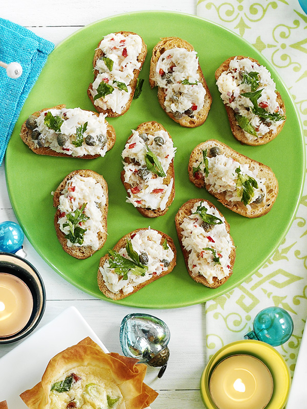 Crab crostini recipe