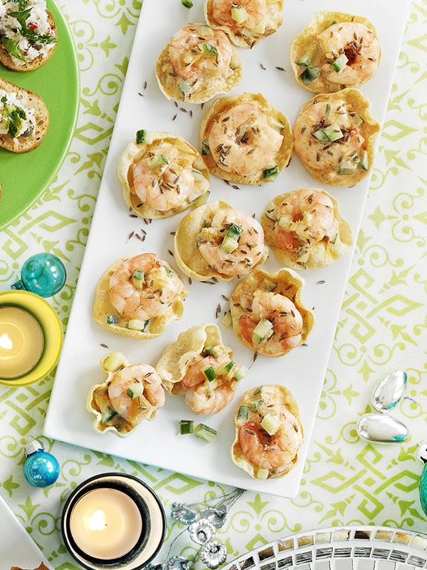 Little prawn poppadoms recipe