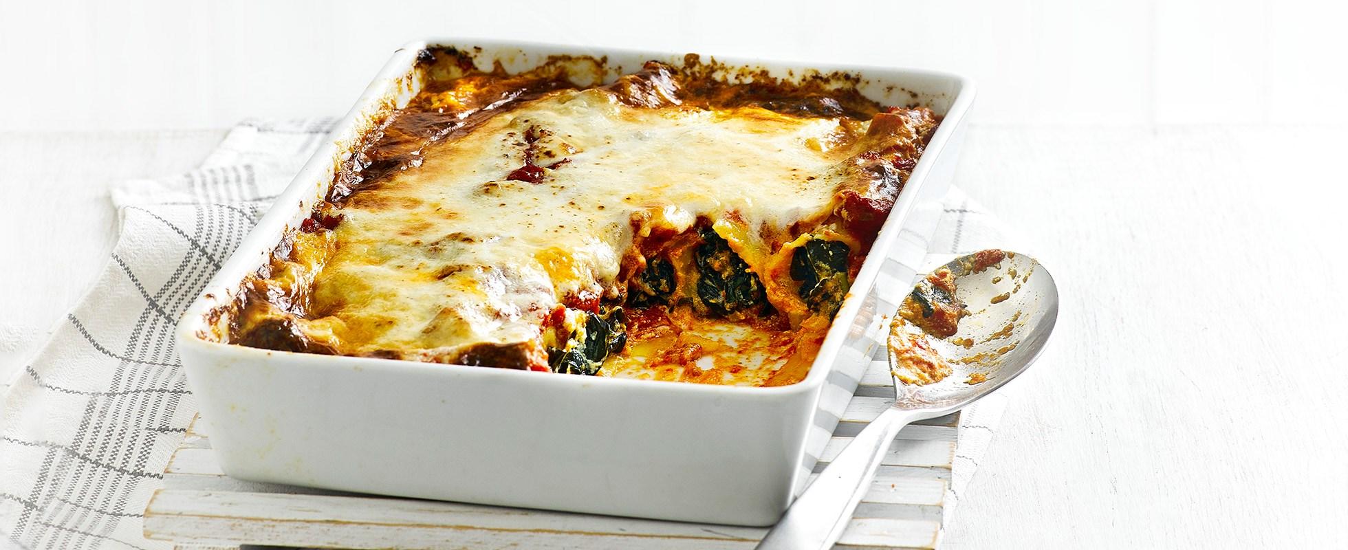 Winter Greens and Ricotta Cannelloni Recipe